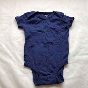 CARTER'S Navy blue short sleeve onesie